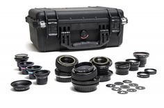 A great range of lenses from teh lensbaby moviemaker kit