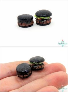 1:12 Miniature Burger King Kuro Burger Set. You can find the pair up for sale here on my website: BonAppetEats.com :)
