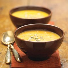 This elegant and smooth squash soup recipe gives you more than your daily quota for vitamin A in just one bowl.