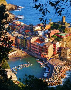 Vernazza,Cinque Terre. One of my favorite places that I have visited.  We did one hike a day and then beached the rest of the afternoon.  I highly recommend a visit!  Mari