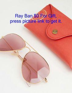 Imagen 2 de Gafas de sol estilo aviador de metal con lentes polarizadas en  rosa de Ray-Ban b258cd2486