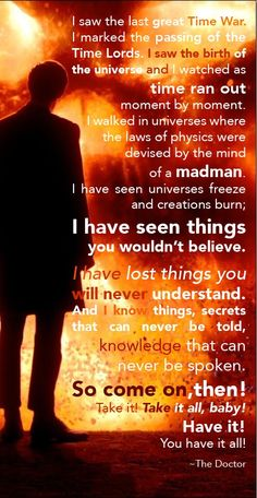 My all time fave Eleventh Doctor speech