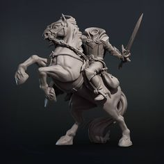 Headless Horseman, Sleepy Hollow, Zbrush, Anna, Cosplay, Statue, Artwork, Rocks, 3d