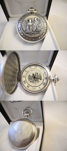 Other Pocket Watches 398: Colibri Antiqued Silvertone Pocket Watch 3Rd Millennium White Face New As-Is -> BUY IT NOW ONLY: $34.99 on eBay!