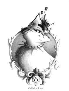portrait de chat crayon à papier