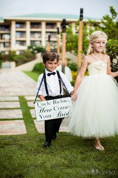 We cannot be any more obsessed with these two: the world's cutest ring bearer and flower girl #luxbride #WeddingWednesday @FSBridal PC @dmitriandsandra