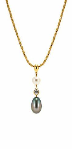 pearl&diamond  pendant