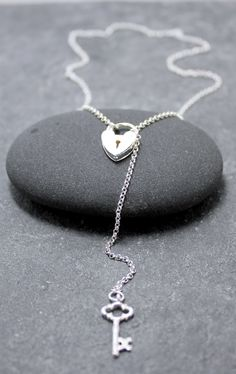 HEART LOCK Necklace, Lariat