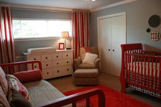Nursery layout is similar to E's room.