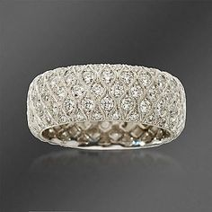 WANT! - Simon G. 2.04 ct. t.w. Diamond Wedding Ring In 18kt White Gold