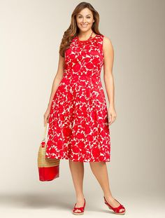 We welcome every plus-size professional woman who wants to build a closet of modern, elegant and well fitting work wear and invite you to visit www.executive-image-consulting.com for more information. Talbots - Rose Silhouette Dress | Dresses | Woman