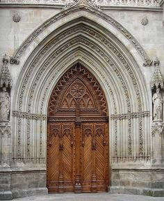 Cathedral door in Bilbao, Spain... woodworking is awesome!