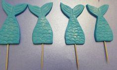 Fondant Mermaid Tails - Mermaid cupcake toppers