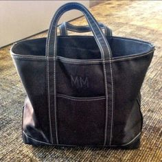 Michael Macko's black custom-made #LLBean Boat and Tote. You design it, we build it...in Maine #USA