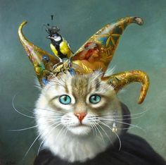 Critters 3, Creation Photo, Animal Party, Party Animals, Here Kitty Kitty, Friends Fashion, Animation, Cat Art, Amazing Art