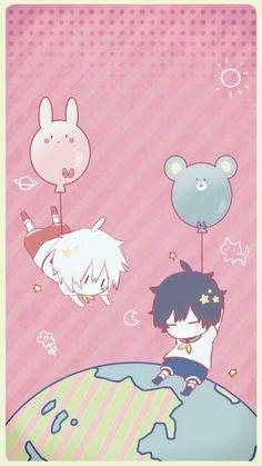 Utaite - Mafumafu & Soraru (After the Rain) Chibi Boy, Cute Chibi, Anime Chibi, Kawaii Anime, Anime Manga, Anime Art, Cute Anime Boy, Anime Guys, Natsume Yuujinchou