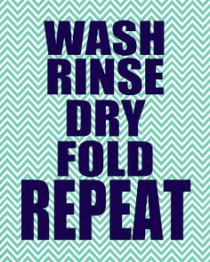 More Laundry Printables.