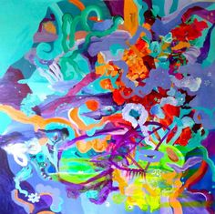 """Saatchi Art Artist Irina Rosenfeldt; Painting, """"MINUET OF DAZZLENESS"""" #art"""