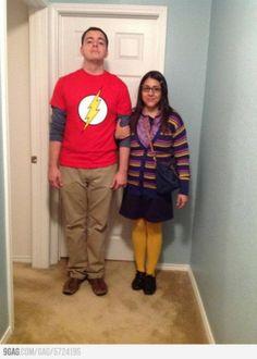 Halloween Couples Costumes - Sheldon  & Amy