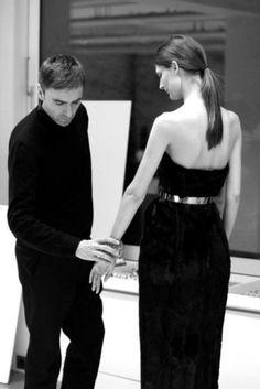 Raf Simons designing for Dior