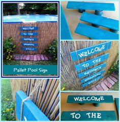 Pallet Pool Sign by Crafty In Crosby