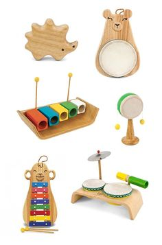 Green Tones Musical Instruments – eco-friendly music toys – toddler preschool music toys | Small for Big