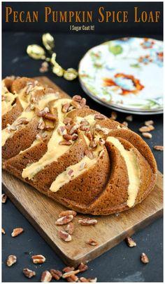 Pumpkin Loaf with Pecan Pumpkin Spice Glaze - I Sugar Coat It