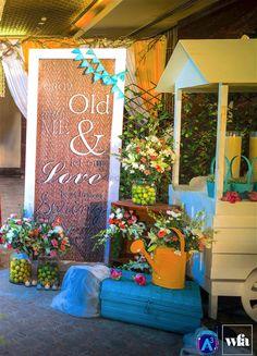 Spring Summer Love Story Yaasve & Hari - The A-Cube Project - via WedMeGood Summer Of Love, Spring Summer, Entrance Decor, Wedding Decorations, Table Decorations, Old Love, Love Story, Rustic Wedding, Cube