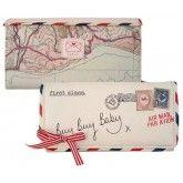 Billetera señora carta por avión Disaster Designs