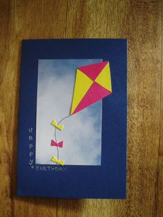 Birthday card  Kite by onelittlepug on Etsy, $2.25