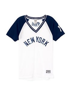 New York Yankees Bling Mesh Jersey Pink Mesh Top 5fd45f7194d