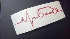 MINI is in my Blood Heartbeat MINI Cooper Decal Sticker YOUR CHOICE OF COLOR