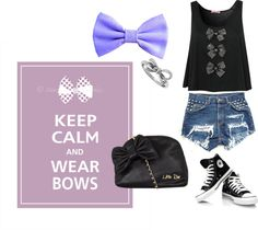 """Keep Calm and Wear Bows"" by alexia-rose on Polyvore"