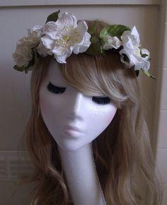 Floral Flower Headband Headdress Hair Band Wreath Crown Vintage Boho Wedding