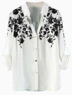 White Floral Shirt | Choies