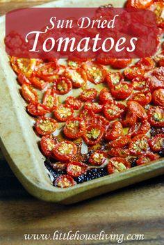 DIY Sun Dried Tomatoes