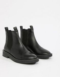 reputable site f142a 3e6dd ASOS DESIGN Ariel leather chelsea boots Black Leather Chelsea Boots,  Chelsea Boots Outfit, Ankle