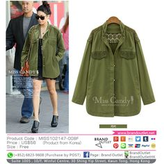 Product Code: MISS102147-008F Item Description: MissCandy Khaki Lace Coat Price: US$56 Size: Free WhatsApp: (+852) 6823-9608 (Purchase by POST) Tel: (+852) 3188-4878 Address: Suite 1005 , 10/F, Winful Centre, 30 Shing Yip Street, Kwun Tong, Hong Kong Website: www.brandoutlet.com.hk Facebook: Brand Outlet Email: info@brandoutlet.clothing #korea #koreaclothes #koreanfashion #koreanmodel #madeinkorea #onlineshop #onlineshopping #summer #style #dress #top #seoul #onepiece #brandoutlet #fashion
