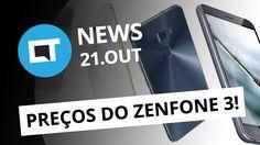Preços do Zenfone 3 no Brasil; ações da Nintendo em queda, iPhone 7 pega...