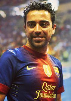Xavi Hernández close up