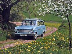 Opel Kadett Caravan (1963 – 1965). Had a red 2 door wagon like this. My wife and kids hated it.