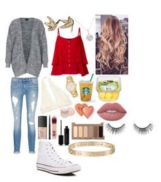 """""""School 65"""" by ella-goodness on Polyvore featuring rag & bone/JEAN, Topshop, NARS Cosmetics, Kate Spade, MAC Cosmetics, Maybelline, Too Faced Cosmetics, Converse, EWA and Marc Jacobs"""