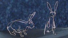 Wire bunnies
