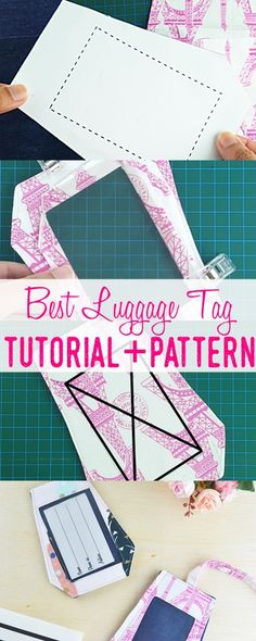 luggage tag tutorial and pattern | how to sew luggage tags | diy luggage tags | free luggage tag pattern