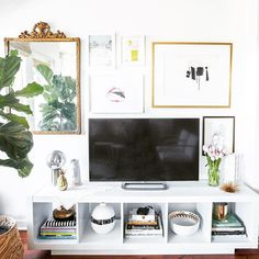 Styling around a TV can be difficult, but our Director of Design, Shelby G…