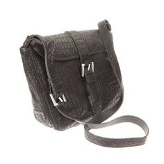 Check out this crossbody bag in crocoprint