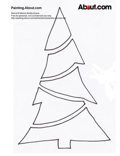 Have some seasonal creativity with this collection of free Christmas stencils, ready to print and cut out for all kinds of personal projects. Christmas Tree Stencil, Christmas Tree Template, Diy Felt Christmas Tree, Stained Glass Christmas, Noel Christmas, Christmas Crafts, Homemade Christmas, Zentangle, Stained Glass Patterns Free