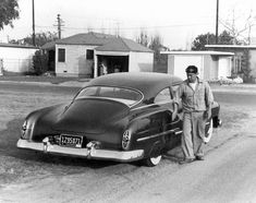 Sam Barris and his famous 1950 Buick.