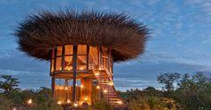 Daniel Pouzet a conçu une villa unique en forme de nid d'oiseau, « NAY PALLAD » au Kenya. Elle offre vue panoramique de 360° degrés sur le paysage.