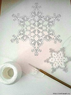 Com Crochet Snowflake Pattern & SkillOfKing.Com The post Crochet Snowflake Pattern & SkillOfKing.Com appeared first on Belle Ouellette. Crochet Snowflake Pattern, Crochet Stars, Crochet Snowflakes, Crochet Mandala, Thread Crochet, Crochet Motif, Crochet Crafts, Crochet Doilies, Crochet Flowers